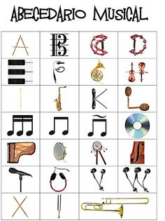 Just a fun visual... Not Sure if there is any use in a Music Class, but it's still creative - Alphabets verbena creative musical alphabet