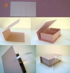 sveta_arhipova: МК Шкатулочка из картона с двумя отделениями - Diy Gift Box, Diy Box, Diy Paper Box, Making Gift Boxes, Paper Box Template, Paper Boxes, Box Templates, Crate Paper, Cardboard Crafts