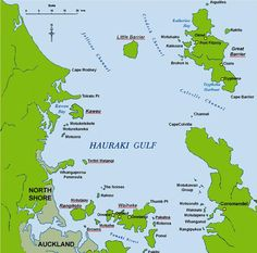 Hauraki Gulf Map - Great Barrier Island, Waiheke Island, Coromandel, Auckland, New Zealand Auckland, Northern Island, Waiheke Island, Island Map, New Zealand, Heart, Hearts