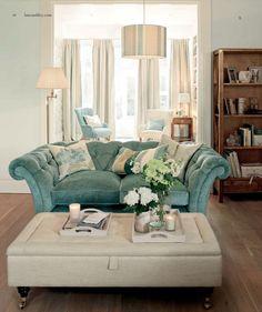 Laura Ashley Living Room Muted Aqua And Cream