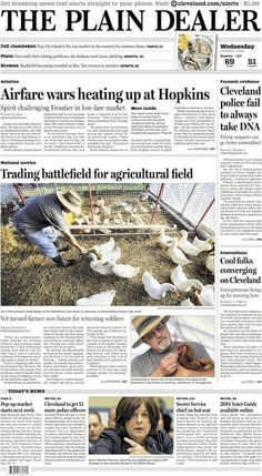The Plain Dealer's front page for October 1, 2014