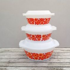 Arcopal Lotus Casserole / Oven Dish With Lid Set x 3 by RosieFleur