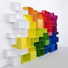 Storage shelves modular #interiors