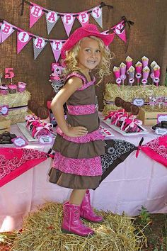 Girls western Birthday Party Ideas | items used in this party available in kara s party ideas shop