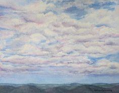 Clouds and Blue Cobalt Sky Art Print of by BarbaraRosenzweig