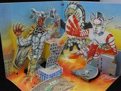 1973 Vintage Jumborg Ace Pop Up book Book Japan Tokusatsu Kaiju RARE
