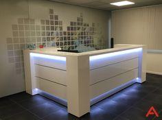 Office Counter Design, Shop Counter Design, Office Furniture Design, Cool Furniture, Reception Table Design, Lcd Panel Design, Corner Workstation, Hotel Lobby Design, Dental Office Decor
