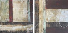 Pintura Original Abstrata - duo contendo duas telas 50x50 cm . totalizando uma área de 110x50 cm em seu espaço!! Uso de textura acrílica, tintas acrílicas e verniz finalizador! Tela pronta para pendurar, não necessita moldura, mas pode ser colocado se desejar!!! cores neutras.. Possibilidade ... Painting, Geo, Inspiration, Original Paintings, Painting Abstract, Moldings, Neutral Colors, Painting Veneer, Fabrics