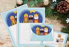 Papeles de carta para escribir a los Reyes Magos Anna Y Elsa, Happy New, Decoupage, Reyes, Small Gifts, Green Christmas, Christmas Balls, Rustic Christmas, Frozen Party
