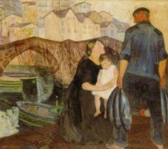 Fisherman And His Family - Ramon de Zubiaurre (1882 – 1969, Spanish)
