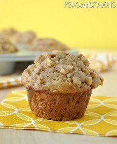Fluffy Apple Cinnamon Banana-Nut Muffins    (peasandcrayons.com)    @Megan Lott...you can make them gluten free!!