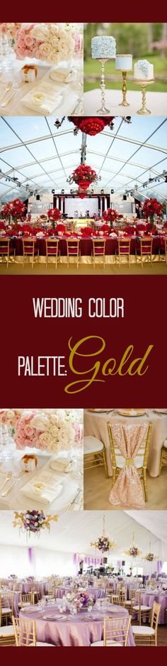 Wedding Color Palette: Gold | Perfect Color Match Ideas for Gold, check out full colour guide at http://inspiredbride.net