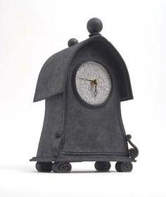 Ceramic clock - stonesplitterpottery
