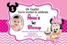 Minnie 1st Birthday Invitation $8.99