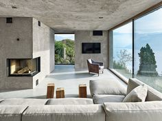 A View To A Thrill: Swiss Alps Bring Drama to Vacation House by Wespi de Meuron Romeo   Projects   Interior Design