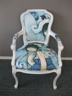 If I could paint, I'd love to paint a chair like this!  Loveless Bird Antique Chair by *camilladerrico on deviantART