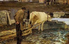 Giovanni Segantini(1858ー1899)「The Snowmelt in Savognin」