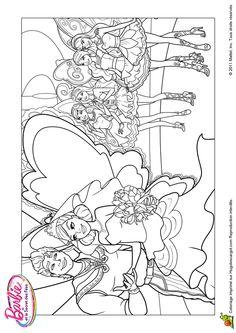 Le mariage de Barbie et du prince, à colorier