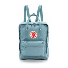 Fjallraven Kanken Backpack ($76) ❤ liked on Polyvore featuring bags, backpacks, backpack, accessories, sky blue, fjallraven backpack, daypack bag, knapsack bag, day pack backpack and blue bag