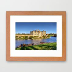 Leeds Castle Framed Art Print #wallart #walldecor #homedecor #framedart #dorm #castle #architecture #moat #English #historical