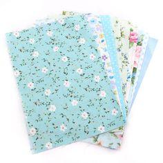8pcs 25x20cm Bluse Series Cotton Sewing Fabric Dolls Purse Handwork DIY Patchwork Cloths