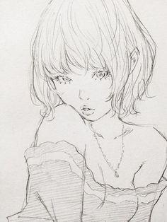 Art by 窪之内英策 Eisaku Kubonouchi* Manga Drawing, Figure Drawing, Manga Art, Drawing Sketches, Art Drawings, Anime Art, Pencil Drawings, Art And Illustration, Portrait Au Crayon