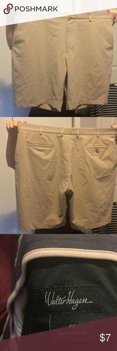 Men's Khaki Golf Shorts Men's waist size 42 Walter Hagen khaki golf shorts. Lightly used, they're very comfortable but they are way to big for me. Willing to negotiate. Walter Hagen Shorts