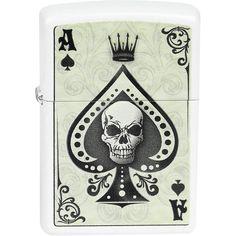 Ace Of Spades - Skull - Aansteker van ZIPPO