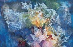 Leaf prints on watercolor...gorgeous technique