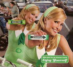 Natalie and Nicole Garza  .  .  .  Wrigley's Doublemint Gum Twins