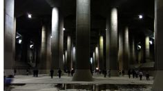 Another example is the Metropolitan Area Outer Underground Discharge Channel. (Tokyo) This is a complex of five vertical shafts of 30 meters in diameter and 70 meters in depth, which are connected each other by tunnels of 10 meters in diameter and 6.3 kilo meters long, all told. At the end of the channel, there is the symbolic place called 'pressure-adjusting tank' also known as 'Underground Parthenon' which is as large as a soccer ground and measures 18 meters in height.