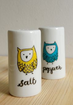 Owl take some Salt and Pepper by dolamakes on Etsy, $24.00