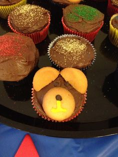 Cubbie Bear cupcakes for our Awana kick-off dinner!