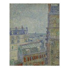 View from Theo's Apartment by Vincent Van Gogh Perfect Poster