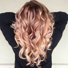 #hair #hairstyles #hairstyle #ombre #girl #rosegold #rosegoldhair #curl #curlyhair