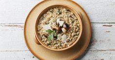 Ein leichtes Gericht: Kleingehackte Pastinaken statt Reis haben weniger Kalorien und schmecken super lecker als Risotto - so kocht man es: