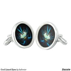 Cool Lizard Eyes Cufflinks