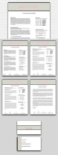 DigitalCVEtsy u003e Creative and clean resume template with - clean resume template word