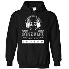 GONZALEZ - ENDLESS LEGEND - #homemade gift #baby gift. PRICE CUT  => https://www.sunfrog.com/Names/GONZALEZ--ENDLESS-LEGEND-4741-Black-Hoodie.html?60505