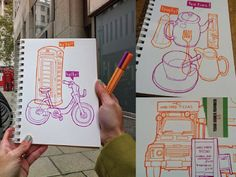 London Doodles by Virginia Poltrack