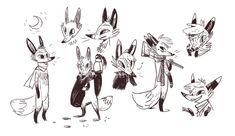 Fox & Brownsugar Art And Illustration, Pretty Art, Cute Art, Fox Character, Fox Art, Animation, Character Design References, Character Design Inspiration, Animal Design