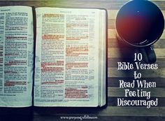 10 Bible Verses to Read When You're Feeling Discouraged
