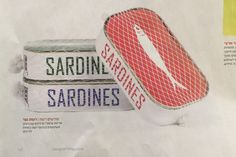 Sardines fish packaging on Behance