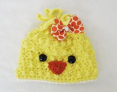 *This listing is for a Baby Hat Crochet PATTERN that you can download once payment has cleared and not an actual finished item* This pattern is for an adorable, and so very soft, Baby Chick / Bird beanie! Perfect for a photo prop, to celebrate Easter, or just to keep warm! This