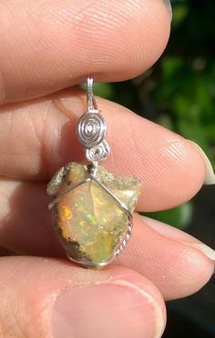 Amazing Natural Ethiopian Multi Fire Opal Pendant 925 Sterling Silver Pendant Black Oxidized For wedding Engagement  /& Gift 23
