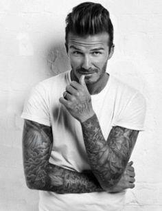 david beckham, tattoo ideas for men, inked men, tattooed men, inked guys… David Beckham Tattoos, Tatuajes David Beckham, David Beckham Haircut, David Beckham Style, David Beckham Body, David Beckham Shirtless, Modern Quiff, Old School Style, Urban Graffiti