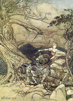 Arthur Rackham's illustrations to The Ring by Wagner Arthur Rackham at Art Passions