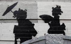 """Toujours en résidence dans les rues de New York, le street artist Banksy continue de présenter ses créations à la sauvage pour son projet """"Better Out Than I"""