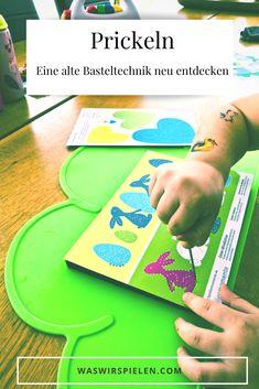 Werbung - Prickeln eine meditative, feinmotorische Übung für Groß und Klein #ad #bastelnmitkindern #basteln Plastic Cutting Board, Play Ideas, Christmas Tree Decorations, Craft Tutorials, Templates