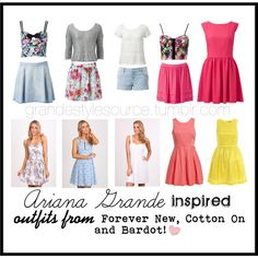 Ariana grande inspired outfits from bardot, forever new and cotton on by iheartallstars on Polyvore